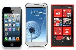 Los smartphones estrella de Samsung, Apple y Nokia