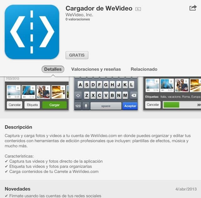 WeVideo para iOS