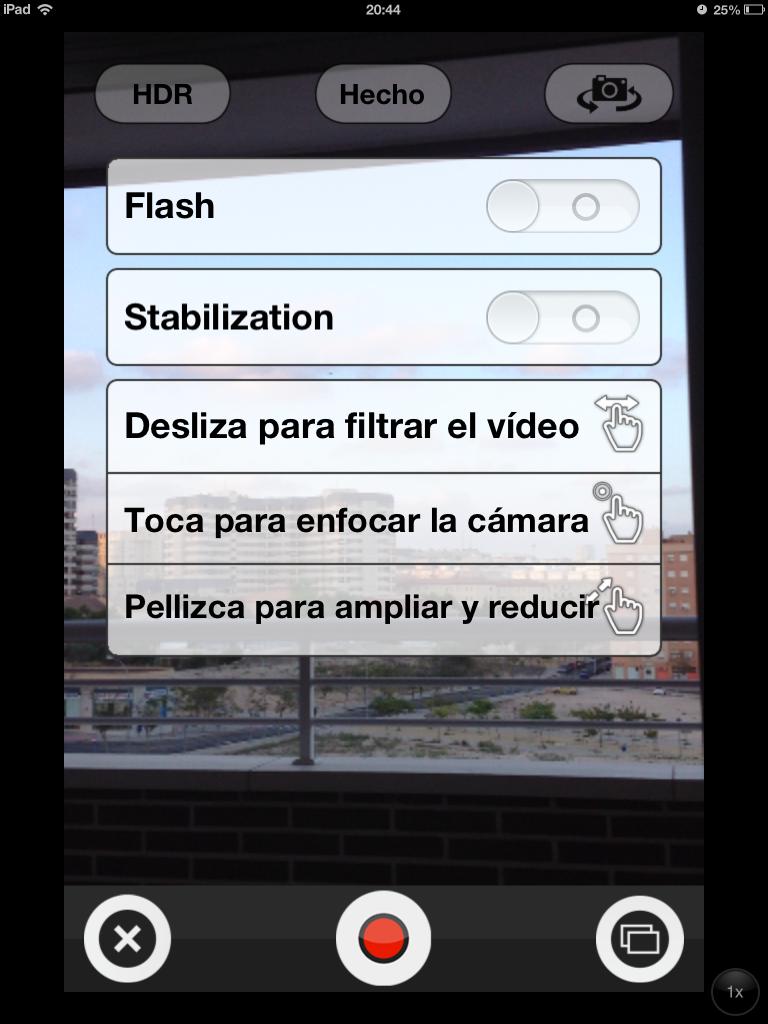 Opciones-Socialcam