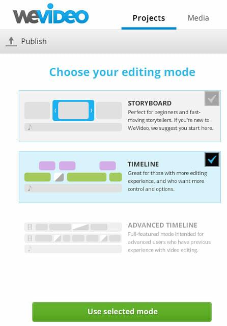 WeVideo vista de la línea de tiempo - Mejores editores de vídeo online gratis