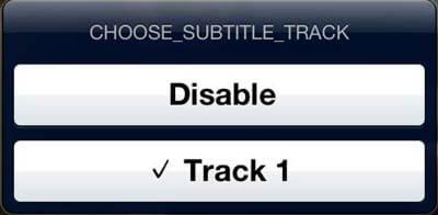 Elige pista de subs en el nuevo reproductor VLC para iOS- Subs SRT