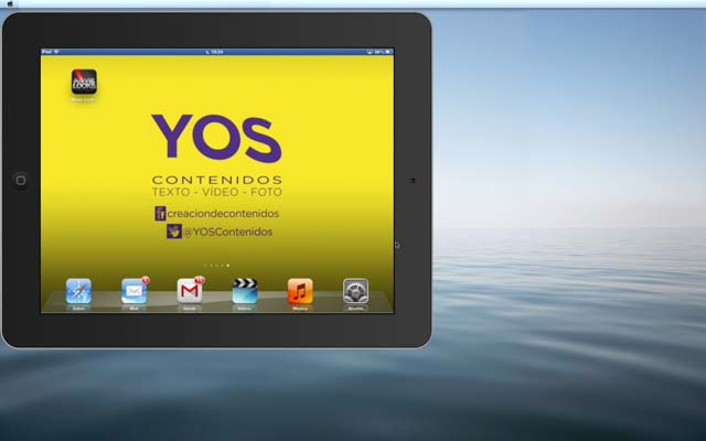 El iPad en la pantalla del ordenador