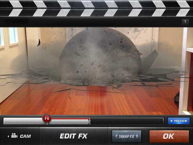 Una vez grabado debes ajustar los efectos especiales en el Action Movie FX