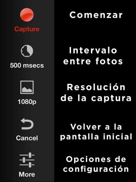 Lapse It Pro ventana de captura