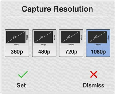Decide la resolución de tu time lapse en Lapse It Pro