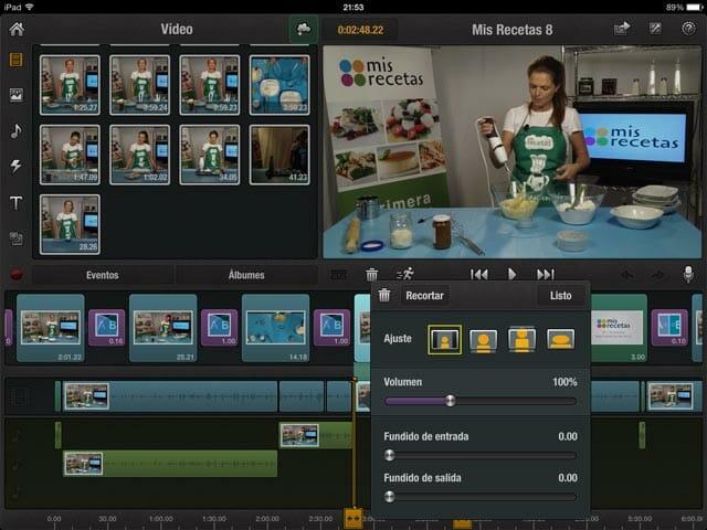 Timeline de Pinnacle Studio con clip seleccionado