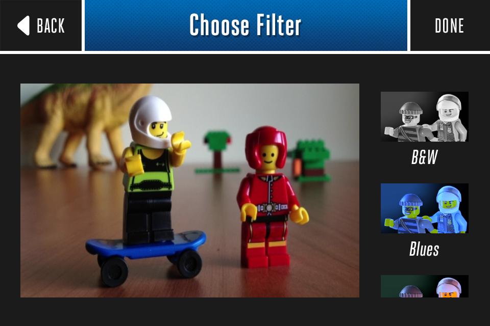 Filtros en Lego Movie Maker