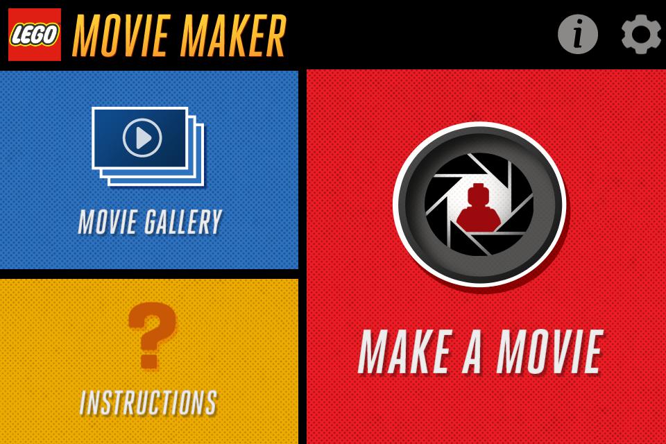 Interfaz de acceso a Lego Movie Maker