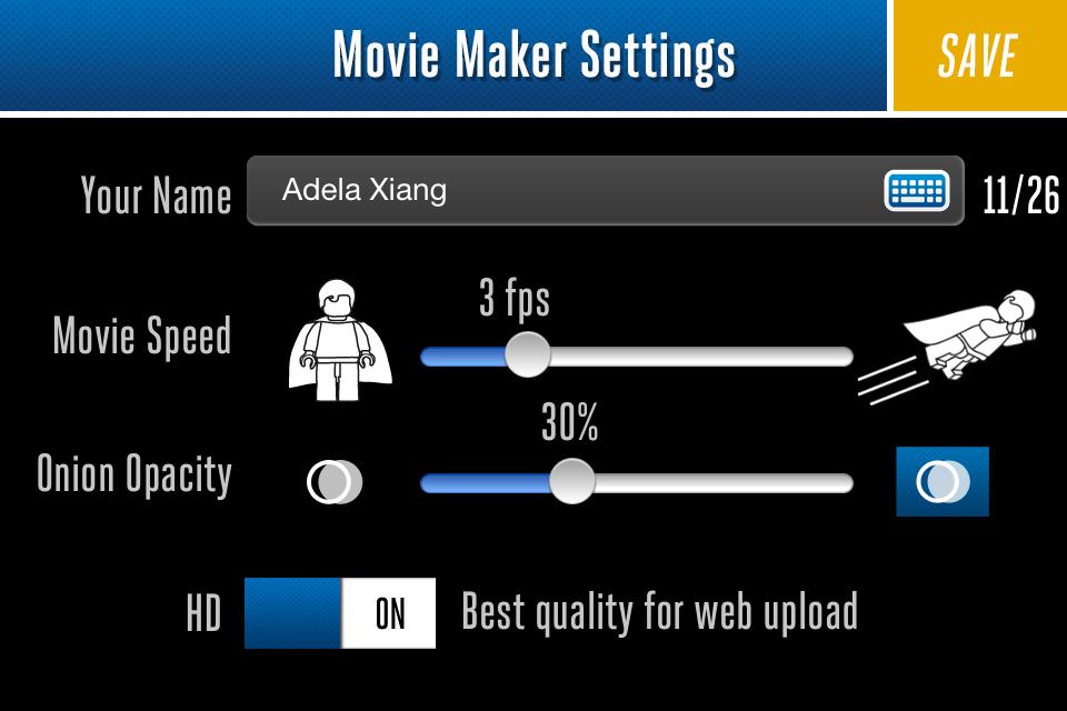 Configurar Lego Movie Maker