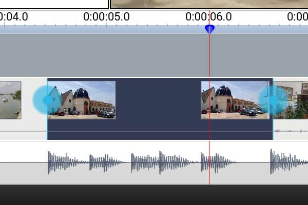 In y Out en VideoPad Android - Modo Editor