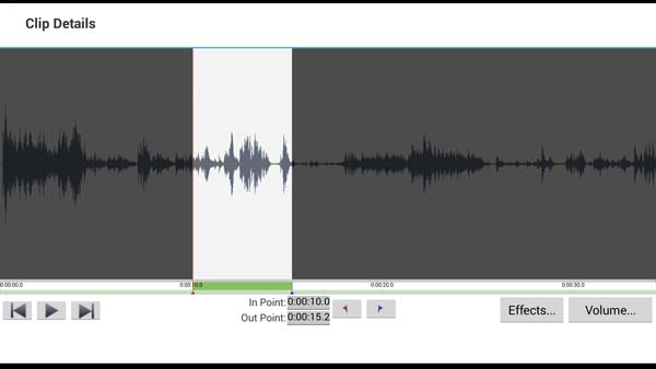 VideoPad Android - Waveform