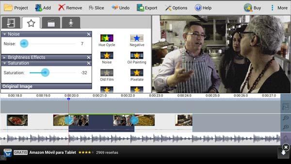 Test de prueba de los efectos de vídeo Live