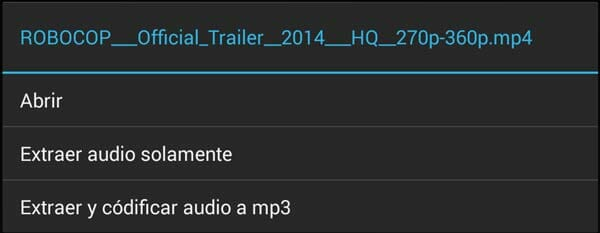 Clip de vídeo ya descargado con YouTubeDownloader