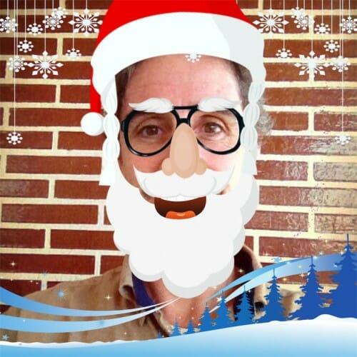 Felicitaciones de navidad con aplicaciones de foto y video