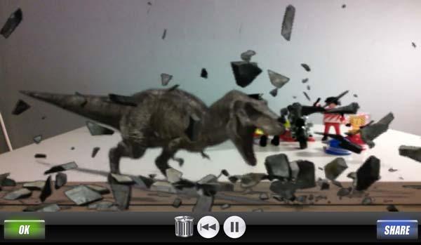 Efectos especiales Android - T-Rex en acción