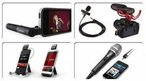 Grabar audio con dispositivos móviles: Micrófonos - eltalleraudiovisual.com Portada del post