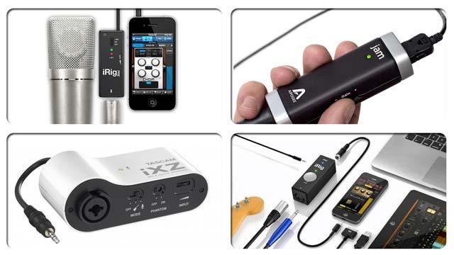 Grabar audio con dispositivos móviles: adaptadores para micrófonos