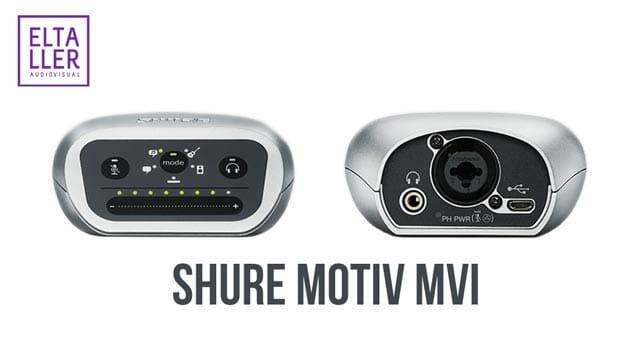 Adaptador para grabar audio digital en el móvil - SHURE MOTIV MVi