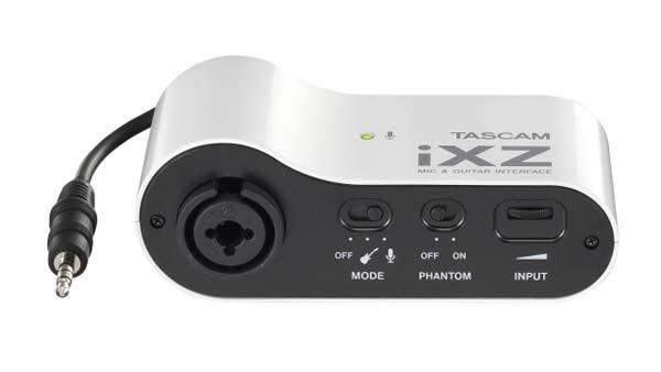 Grabar audio con dispositivos móviles: Adaptador para micrófono, guitarra y bajo Tascam iXZ