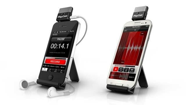 Grabar audio con dispositivos móviles iRigCast en iOS o en Android