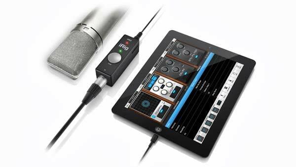 Grabar audio con dispositivos móviles: Adaptador para micrófono, guitarra y bajo iRig Pro