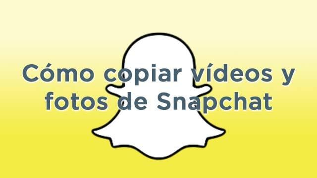 Descarga los vídeos y las fotos que recibas en Snapchat
