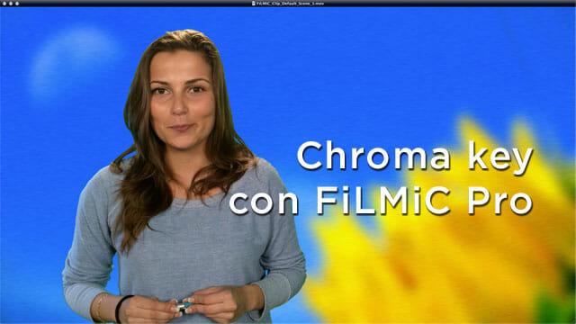 Chroma key fácil en grabación con FiLMiC Pro