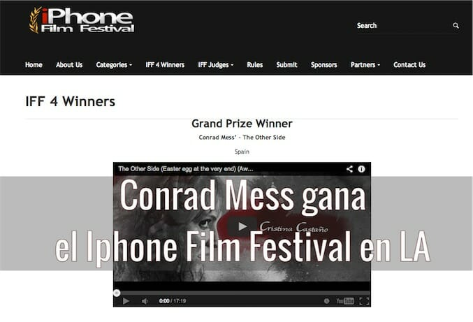 Conrad Mess gana el iPhone Film Festival