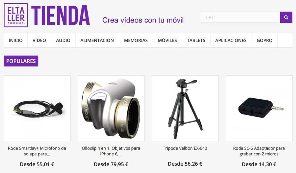 Tienda de afiliación de Eltalleraudiovisual.com - Los accesrios recomendados por YOS COntenidos para grabar vídeo con móviles