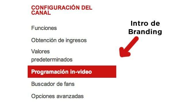 Vídeo Intro o Intro de Branding para Youtube - Configurando el canal de youtube