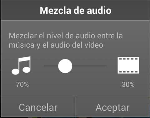 PowerDirector mezcla de audio