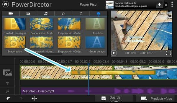 Transiciones entre planos en PowerDirector