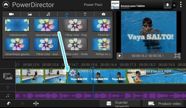 11 efectos de vídeo disponibles en PowerDirector