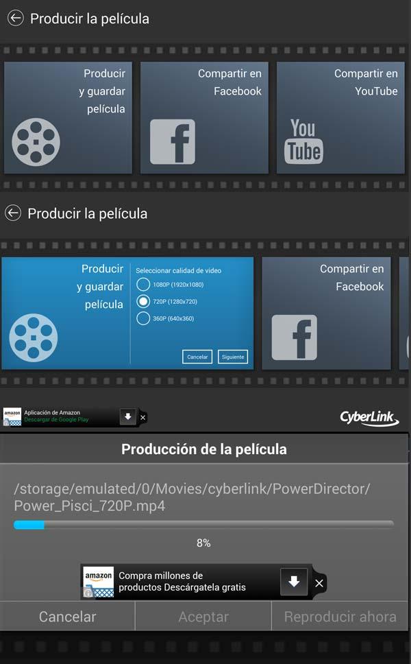 Comprimiendo la versión final del vídeo en PowerDirector