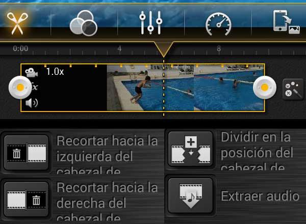 KineMaster ofrece una interfaz muy sencilla para editar vídeo en Android