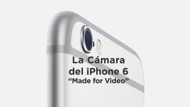 iPhone 6 y su nueva cámara de vídeo