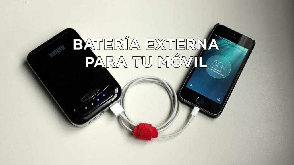 Batería externa para móvil: imprescindible si grabas vídeo