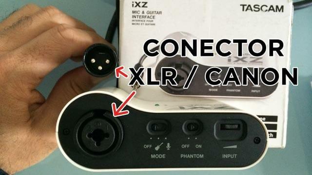 Como se conecta un cable XLR o Canon o un micro a un iRigPre o Tascam iXZ