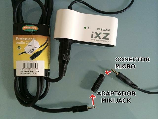 Así conecto mi micro minijack al Tascam iXZ