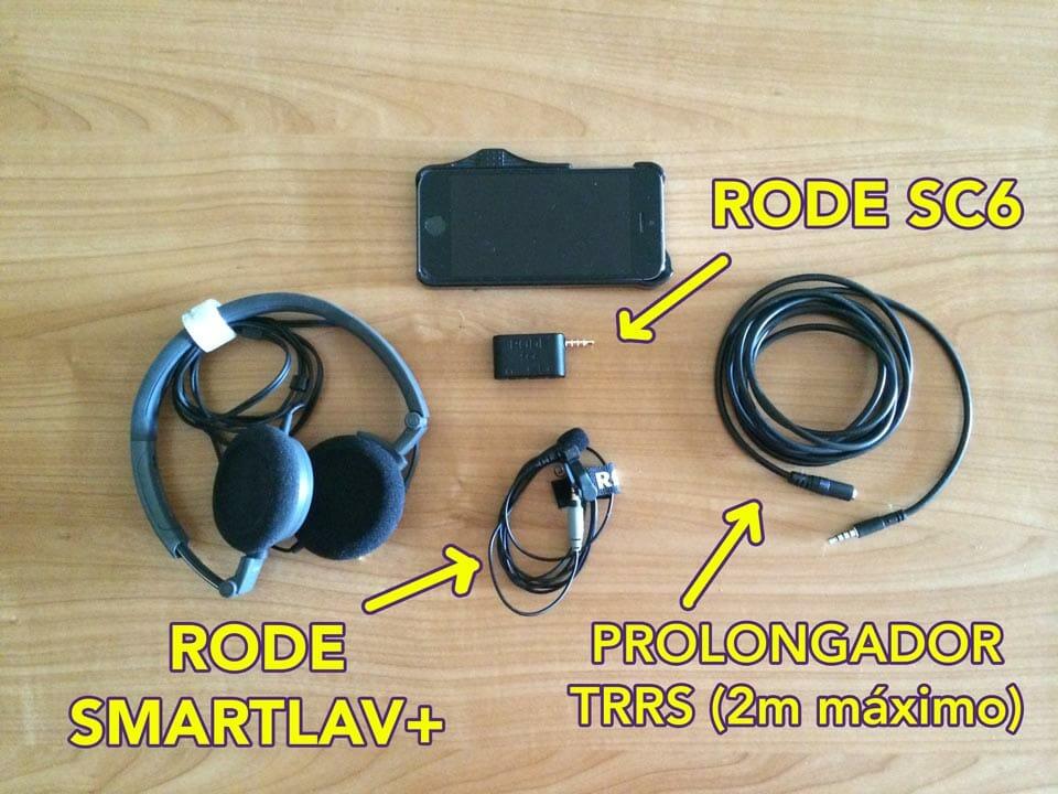 Equipo utilizado con el Smartlav+ - eltalleraudiovisual.com
