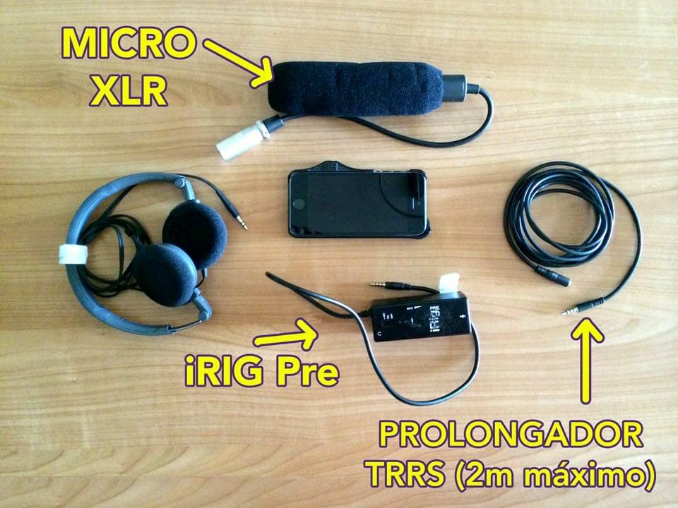 Equipo usado para la prueba con el iRIG Pre - eltalleraudiovisual.com