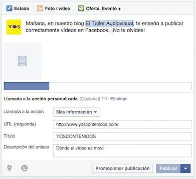 Cómo subir un vídeo a Facebook