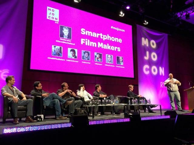 Smartphone Filmmakers en MOJOCON - Conrad Mess, Michael Koerbel, Ricky Fosheim, Neill Barham, Dan Cheung, Taz Goldstein y David McCleland