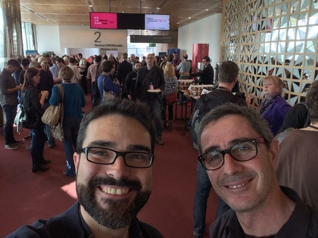 Óscar @yos_oscar y Javier @YOSContenidos en #MOJOCON