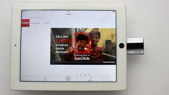 Reproduce películas con AC3 en el player de la app Sandisk Sync de iXpand