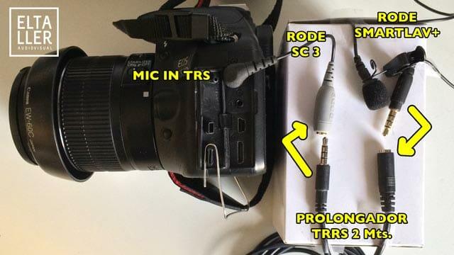 Cómo conectar un Smartlav a una camara reflex digital