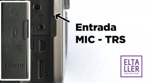 Entrada de micro de una cámara reflex digital canon DSLR 550D