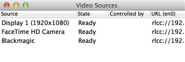 Pantallazo de Recolive Capture preparado para Recolive Multicam a Full HD