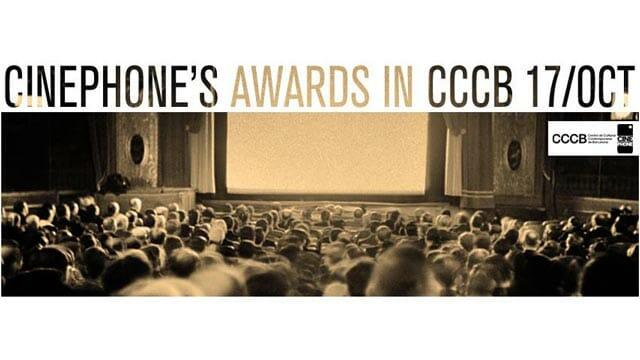Cinephone 2015: Entrega de premio en auditorio CCCB Barcelona 17 de Octubre