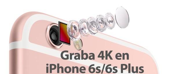 La cámara del iPhone 6s y iPhone 6s Plus con vídeo 4K
